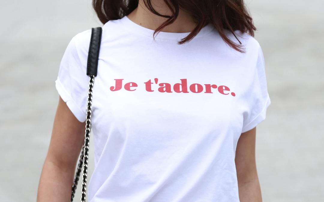 Accessoires EVJF et tee-shirts EVJF : JE T'ADORE, la marque tendance